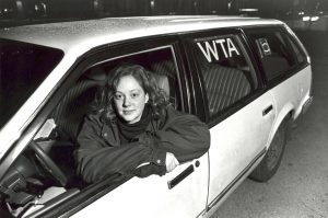 Women's Transit Authority - Student in Car
