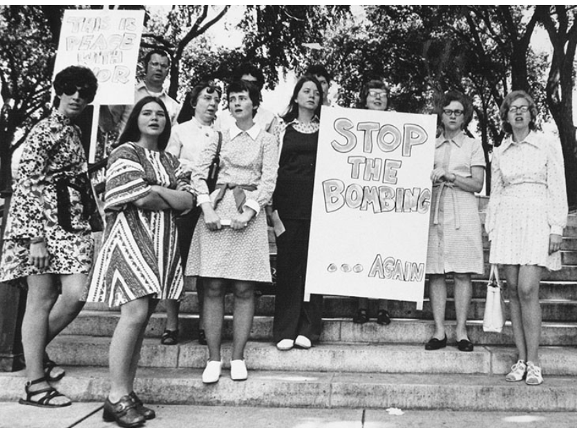 women at rally black and white photo featured image