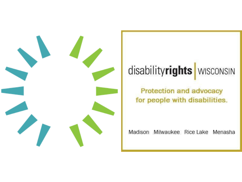 Feature Image containing both the Wisconsin Council of the Blind and Visually Impaired logo as well as the Disability Rights Wisconsin logo