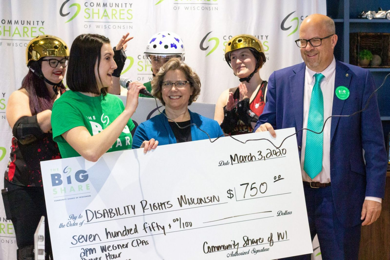 disability rights wi Big Share prize check