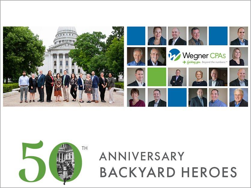 ANNIVERSARY BACKYARD HEROES: Wegner CPAs & Madison Community Foundation